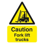Warning Sign Caution Industrial Trucks 2mm Foam Board 200 x 300 mm
