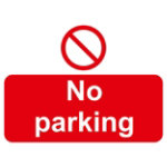 Warning Sign No Parking 2mm Foam Board 400 x 300 mm