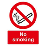 Warning Sign No Smoking 2mm Foam Board 400 x 300 mm