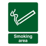 Smoking area outdoor sign