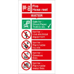 Fire Procedure Sign Fire Hose Reel PVC 100 x 200 mm