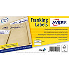 Avery Franking Labels 38 X 139mm 1000 Labels Per Box FL01