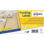 Avery Franking Labels FL04 White 1000 Labels per pack Pack 1000