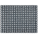 Doortex Rubber Honeycomb Door Mat Black 60 x 80 cm