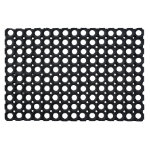 Doortex Rubber Honeycomb Door Mat Black 80 x 120 cm