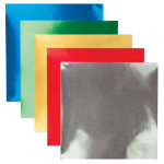 150x150mm Gummed Foil Squares 50 sheets pk   Assorted