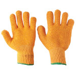 Knitted Grip Gloves Yellow