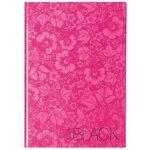 Pink Black Casebound Hardback Notebook A4