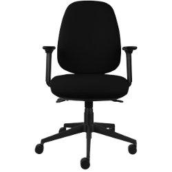 energi 24 back care posture operators chair in black