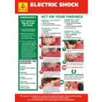 Health Safety Poster Electric Shock Treatment