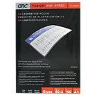 GBC High Speed Pouches A4 160 2 x 80 Micron 216 x 303mm 100 pk