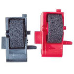 Printing Calculator Ink Roller Black Red Twin Pack