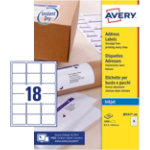Avery Inkjet Labels J8161 100 White 1800 Labels per pack Pack 100