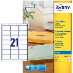 Avery Address Labels J8560 25 Transparent 525 Labels per pack Pack 25