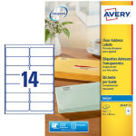 Avery Inkjet Address Label J8563 25 Clear 350 Labels per pack Box 25