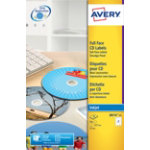 Avery Inkjet Full Face CD DVD Labels J8676 25