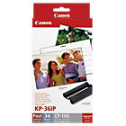 Canon KP 36IP Original Black 3 Colours Ink and Paper Set 7737A001