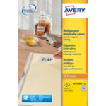 Avery 189 Per Sheet Removable Labels 254 x 10mm L4731REV 25