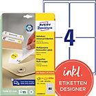 Avery Mini Multipurpose Labels L4732REV 25 White 2000 Labels per pack Pack 25