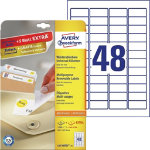 Avery Laser Labels L4736REV 25 White 1200 Labels per pack Pack 25