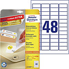 Avery 48 Per Sheet Removable Labels 457 x 212mm L4736REV 25