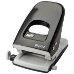 Leitz NeXXT Series Two Hole 40 Sheet Capacity Punch Black