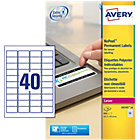 Avery No Peel Laser Labels 457 x 254mm 800 Labels Per Box
