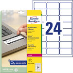Avery NoPEEL Laser Labels 635 x 339mm 24 Per Sheet