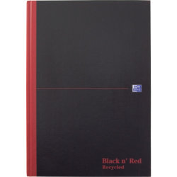 Black n Red Casebound Manuscript Book A4