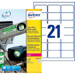 Avery Heavy Duty Laser Labels 21 Labels per Sheet 635 x 381mm L7060 25