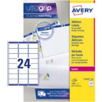 Avery Addressing Label QuickPeel L7159 100 White 2400 Labels per pack Box 100