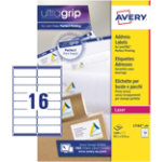 Avery Addressing Labels QuickPeel L7162 100 White 1600 Labels per pack Box 100