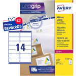 Avery Addressing Labels L7163 100 White 1400 Labels per pack Box 100