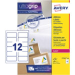 Avery Laser Labels L7164 100 White 1200 Labels per pack Box 100