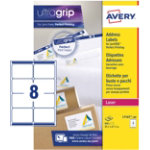 Avery BlockOut Shipping Labels L7165 100 White 800 Labels per pack Box 100