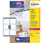 Avery Parcel Labels L7166 100 White 600 Labels per pack Pack 100