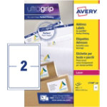 Avery Laser Labels L7168 100 White 200 Labels per pack Box 100