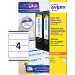 Avery Lever Arch Filing Labels L7171 25 White 100 Labels per pack Pack 25