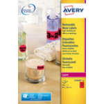 Avery Labels L7263R 25 Red 350 Labels per pack Pack 25