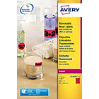 Avery Neon Red Laser Labels 991 x 381mm 350 Labels per Box