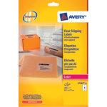 Avery Clear Laser Labels 8 Per Sheet 68 x 99mm L7565 25