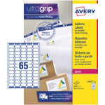 Avery Mini Labels 65 Labels Per Sheet 381 X 212 25 Sheets Per Pack L7651 25