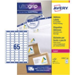 Avery Labels QuickPeel L7151 100 White 6500 labels per pack