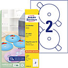 Avery Black White Laser Full Face CD DVD Labels L7676 25