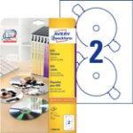 Avery Photo Quality DVD Laser Labels Matt L7860 20