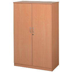Largo Beech Effect 160cm High Cupboard with 3 Shelves Beech 102W x 55D x 160H cm