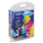 Brother LC1000CMY Colour Cartridge Pack LC1000RBWBP