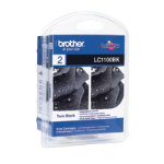Brother LC1100 Printer Ink Cartridge Black Twin Pack LC1100BK2