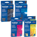 Brother LC1100 Black Cyan Magenta Yellow Printer Ink Cartridge