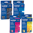 Brother LC1100 BK C M Y Original Ink Cartridge Black 3 Colours